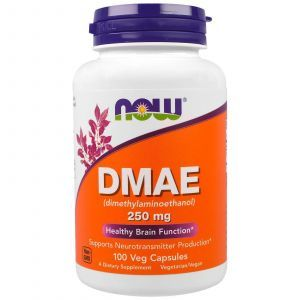 DMAE (Диметиламиноэтанол), Now Foods, 250 мг, 100 капс