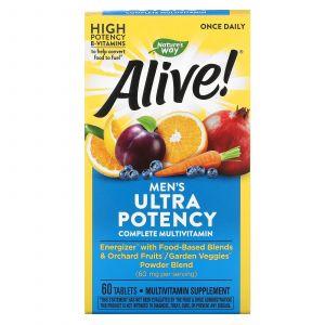 Мультивитамины для мужчин, Alive! Men's Multi-Vitamin, Nature's Way, 60 таблеток