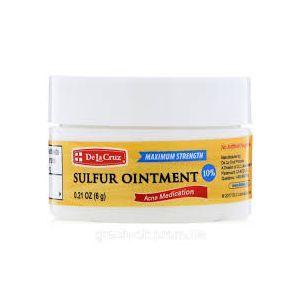 Серная мазь, средство от угрей, Sulfur Ointment, Acne Medication, De La Cruz, 6 г