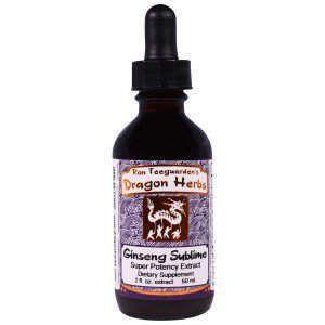 Женьшень, травяная формула, Ginseng Sublime, Dragon Herbs, 60 мл