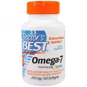 Омега-7, (Omega-7), Doctor's Best, 210 мг, 60 капсул