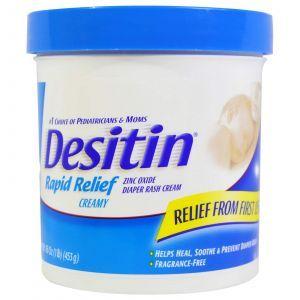 Крем от опрелостей, мгновенное облегчение, Diaper Rash Cream, Desitin, 453 г