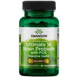 Пробиотики, Probiotics Dr. Langer's Ultimate 16 Strain, Swanson, 3 млрд. КОЕ, 60 вегетарианских капсул