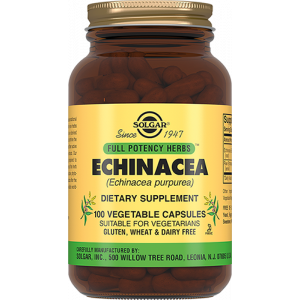 Эхинацея экстракт, Echinacea Herb, Solgar, 100 капсул
