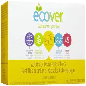 Таблетки для посудомоечных машин, Dishwasher Tablets, Ecover, 45 таблеток, 0,9 кг