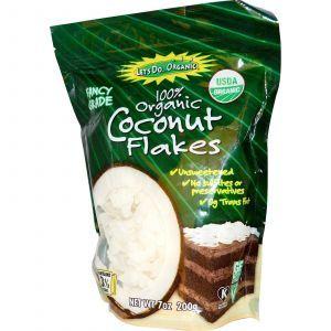 Кокосовая стружка, Coconut Flakes, Edward & Sons, 200 г