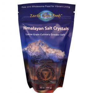 Гималайская соль, Himalayan Salt, Earth Circle Organics, кристаллы, 454 г