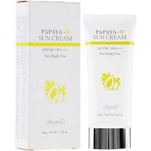 Солнцезащитный крем с экстрактом папайи, Papaya-D Sun Cream SPF38+/ PA++++, Benton, 50 мл