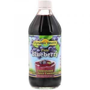 Черничный концентрат, Blueberry Juice, Dynamic Health, жидкий, 473 мл