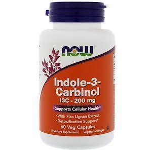 Індол 3 карбінолу, Indole-3-Carbinol, Now Foods, 200 мг, 60 капсул
