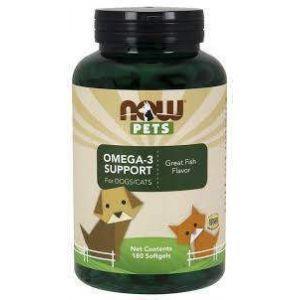 Омега-3 для кошек и собак, Omega-3 for Dogs/Cat, Now Foods, 180 капсул