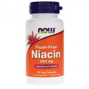 Now Foods, Flush-Free Niacin, 250 mg, 90 Veg Capsules