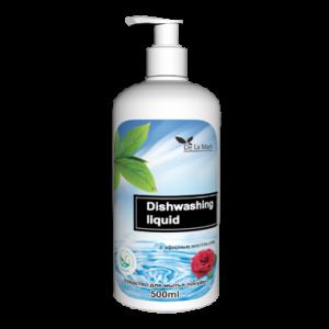 Средство для мытья посуды с эфирным маслом розы, DeLaMark, 0.5 л