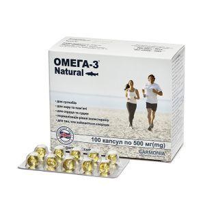 Омега-3 Natural, Гармония, 500 мг, 100 капсул