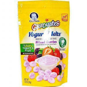 Живой йогурт с ягодами, Yogurt Melts, Gerber, 28 г