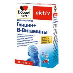 Глицин + В-витамины, Доппельгерц актив, 30 капсул