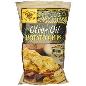 Картофельные чипсы с оливковым маслом и розмарином, Potato Chips,Good Health Natural Foods, 142 г