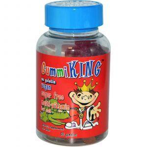 Витамины для детей, Gummi King, без сахара, 60 таблеток