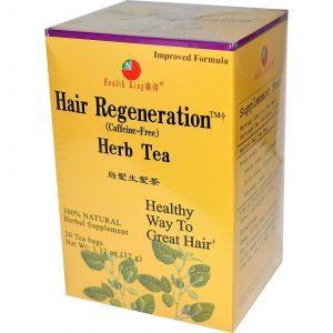 Травяной чай для восстановления волос, Hair Regeneration, Health King, 20 чайных пакетов, 34 г