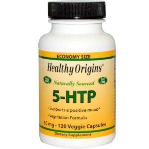 5-гидрокситриптофан(5-НТР), Healthy Origins, 50 мг, 120