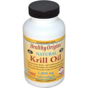 Масло криля, Krill Oil, Healthy Origins, 1000 мг, 120 капсул