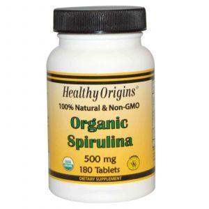 Спирулина, Healthy Origins, 500 мг, 180 табле