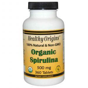 Спирулина, Healthy Origins, 500 мг, 360 таблет