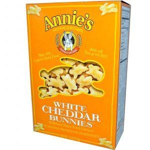 Запеченные крекеры с белым сыром чеддер (Snack Crackers), Annie's Homegrown, 213 г.