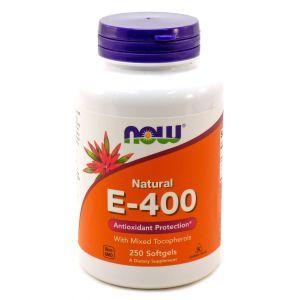 Витамин Е, Natural E-400, Now Foods, 250 капсул
