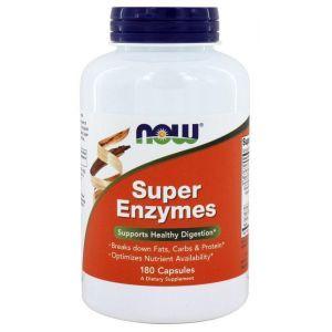 Пищеварительные ферменты, Super Enzymes, Now Foods, 180 капс