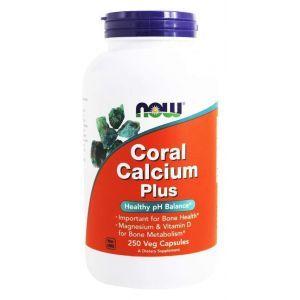 Коралловый кальций, плюс, Coral Calcium, Now Foods, 250 ка