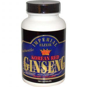 Корейский красный женьшень, Korean Red Ginseng, Imperial Elixir, 100 кап.