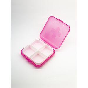Органайзер для витаминов розовый, Pill Box, 1 шт