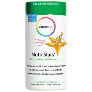 Витамины для детей, Rainbow Light, Nutri Stars, 60 жевательных табл