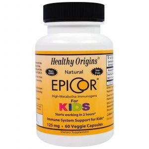 Эпикор для детей, EpiCor for Kids, Healthy Origins, 125 мг, 60 капсу