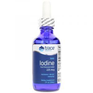 Ионный йод, Ionic Iodine, Trace Minerals Research, 225 мкг, жидкий, 59 мл