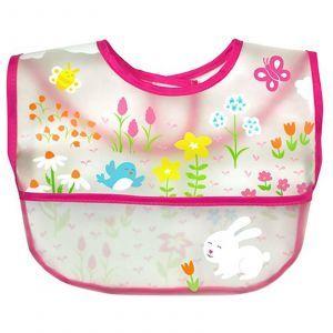 Детский нагрудник розовый, Wipe-Off Bib, iPlay Inc., 1 шт