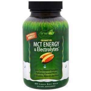 МСТ кокосовое масло, MCT Energy & Electrolytes, Irwin Naturals, 60 капсул (