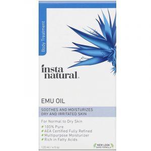 Масло Эму, Emu Oil, InstaNatural, для тела, 120 мл