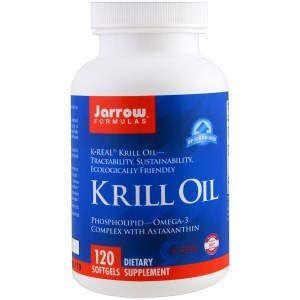 Масло крыля, Krill Oil, Jarrow Formulas, 120 капсул