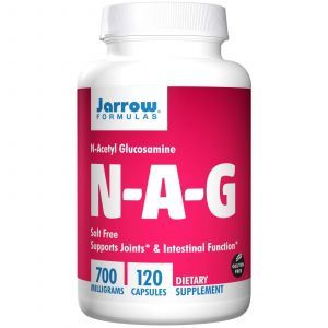 Ацетилглюкозамин, N-A-G, Jarrow Formulas, 700 мг, 120 капсул