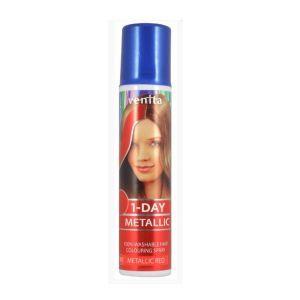 Краска-спрей для волос красный, 1-Day Metallic Colouring Spray, Venita, 50 мл.