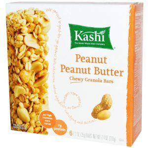 Батончики из мюслей с арахисом,(Chewy Granola Bars, Peanut Peanut Butter), Kashi, 6-2 шт.