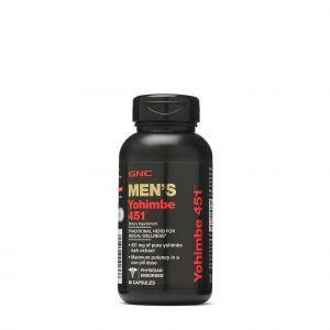 Йохимбе, экстракт коры, Men's Yohimbe, GNC, 451 мг, для мужчин, 60 капсул