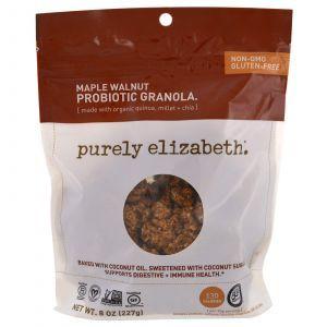 Пробиотик-гранола, кленовый орех, Probiotic Granola, Purely Elizabeth, 227 г
