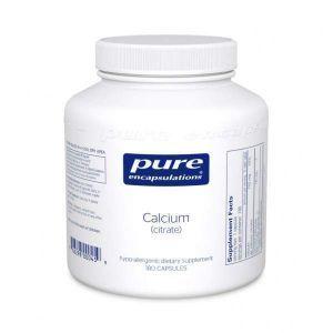Кальций (цитрат), Calcium (citrate), Pure Encapsulations, 180 капсул