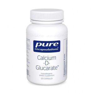 Кальций-D-Глюкарат, Calcium-D-Glucarate, Pure Encapsulations, 120 капсул