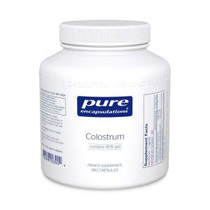 Молозиво, Colostrum 40% IgG, Pure Encapsulations, 450 мг, 180 капсул