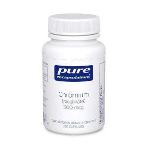Хром (пиколинат), Chromium (picolinate), Pure Encapsulations, 500 мкг, 180 капсул