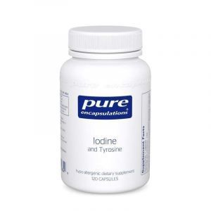 Йод и Тирозин, Iodine & Tyrosine, Pure Encapsulations, 120 капсул